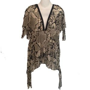 Anna Sui Tops - Anna Sui New York Short Sleeve Flutter Top Blouse